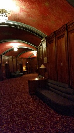 Avalon Theater : Walnut lined lobby.