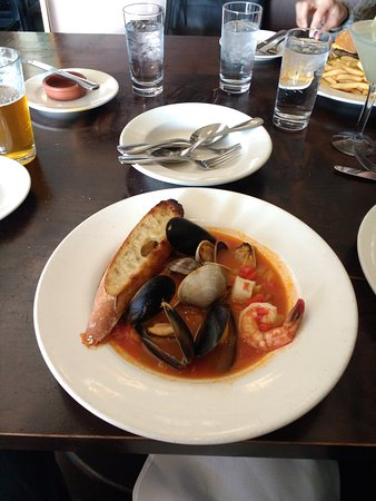Camas, WA: Bouillabaisse with shrimp, clams, mussels and scallop