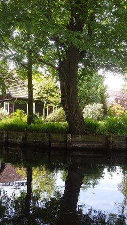 Lubben, Duitsland: Häuser im Spreewald