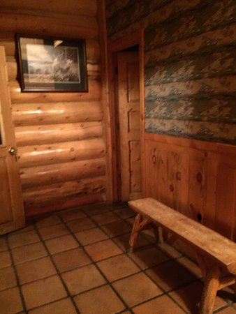 Hibernation Station: Entry and door to bathroom.