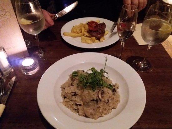 Citation: Mushroom risotto and my husbands overpriced steak