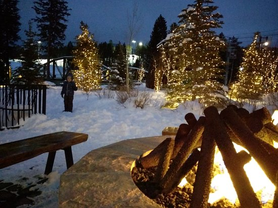 Winter Park Resort Great Snow With Fire Pit Train Play Structure Just Behind