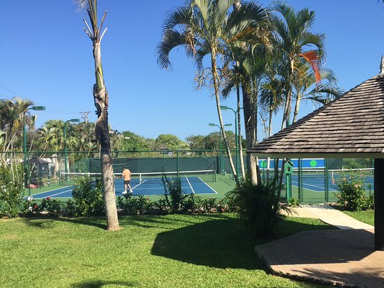 Sandals Negril Beach Resort Spa 2 Flood Tennis Courts