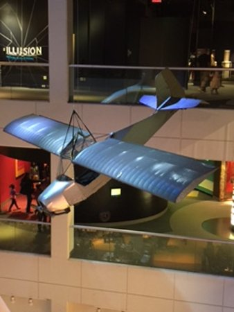 Liberty Science Center: duct tape plane
