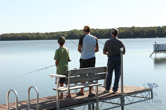 Perham, MN: Fishing from the dock