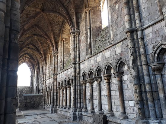 Photo of Historic Site Holyrood Abbey at Canongate, Royal Mile, Edinburgh, United Kingdom