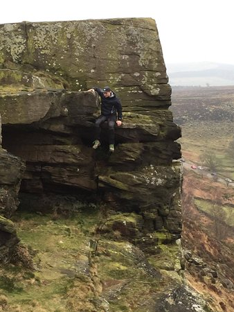 Calver, UK: There are lots of great opportunities to do a little climbing and exploring as well