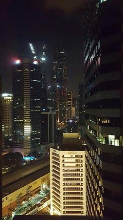 DoubleTree by Hilton Hotel Kuala Lumpur: hallway view toward the Petronas Tower