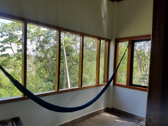 Mariposa Jungle Lodge: Screened in porch in our room