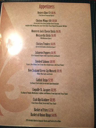 Cumberland, MD: appetizer menu