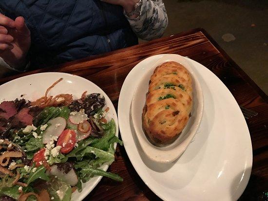 Redmond, WA: Her twice-baked potato which was huge. We took half home.