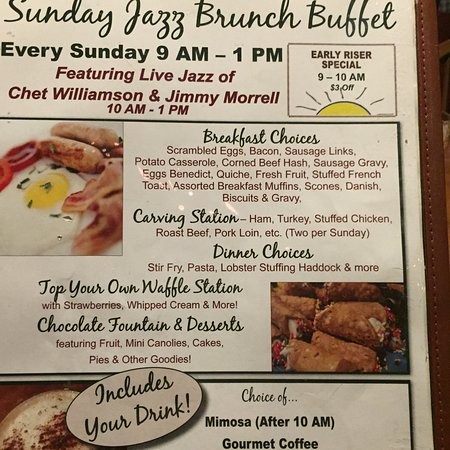 Gardner, MA: Brunch on Sunday