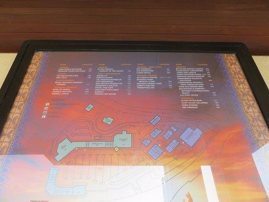 Keauhou Shopping Center: センターの見取り図
