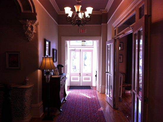 The front hall of the Hochelaga Inn