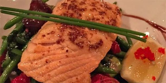 Lancelot Restaurant: The salmon is one of the healthiest choices and excellent