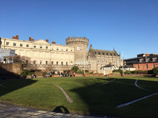 This is the view back to the Castle from the lawn in front of the Chester Beatty Library