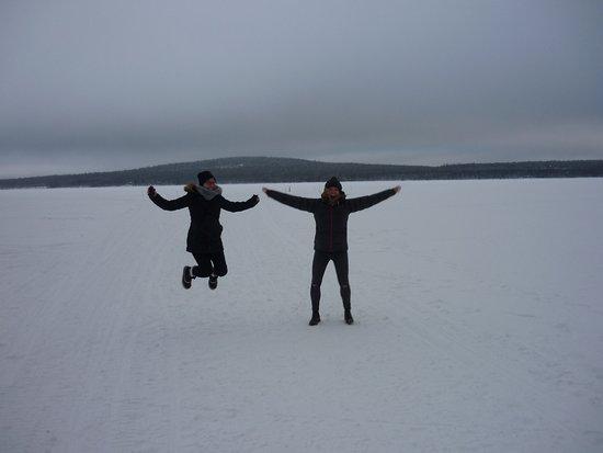 Hotel Jeris: Jumping on the frozen lake