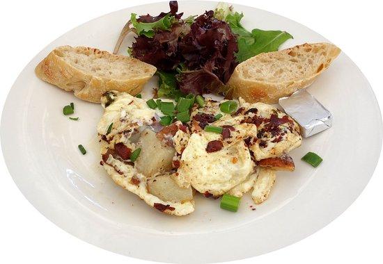 Wilton Manors, FL: Egg white bacon omelette
