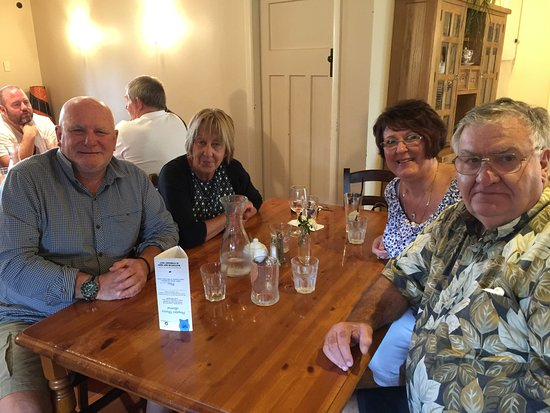 "Carterton, New Zealand: The ""crew"" having had enjoyed the delicious meal"