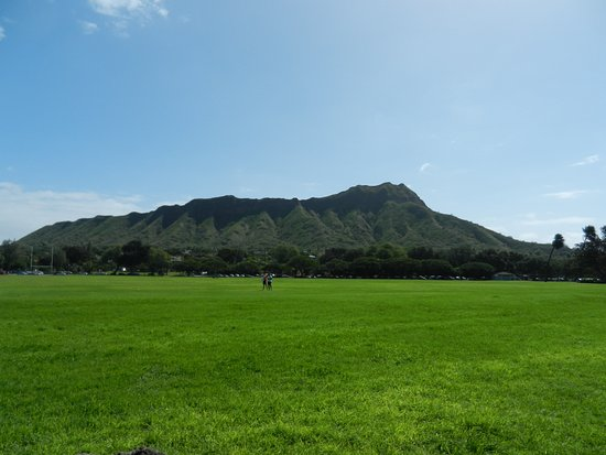 Kuhio Beach: Diamond Head in front of you.