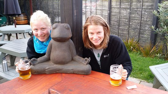 """Southland Region, New Zealand: Our """"Good Kharma"""" Frog, who resides in our Beer Garten..."""