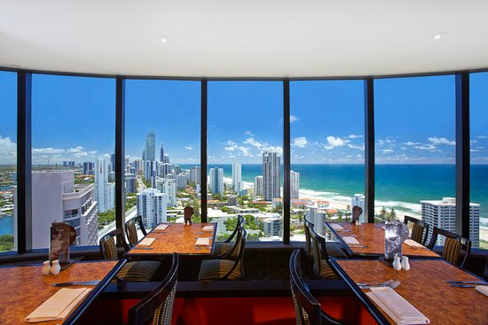Four Winds Revolving Restaurant: 360° Views of the Gold Coast coastline and hinterland.