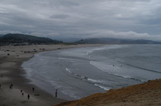 Pacific City, OR: looking south from the bluff