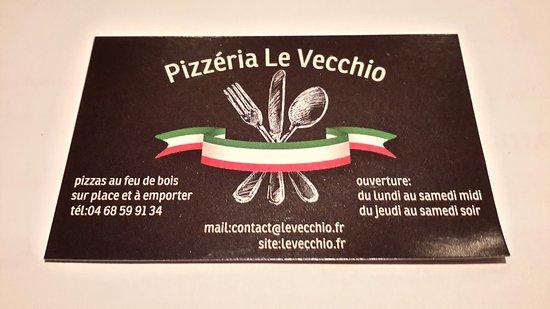 Pizzeria Le Vecchio La Carte De Visite
