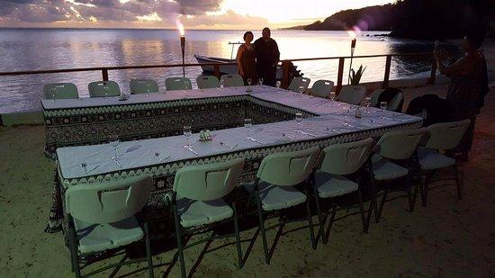 Mango Bay Resort Fiji: Special birthday setting on the beach