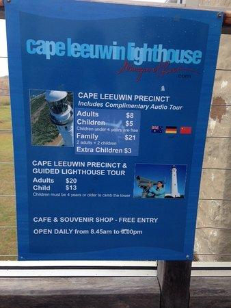 Augusta, Australia: Ticket prices