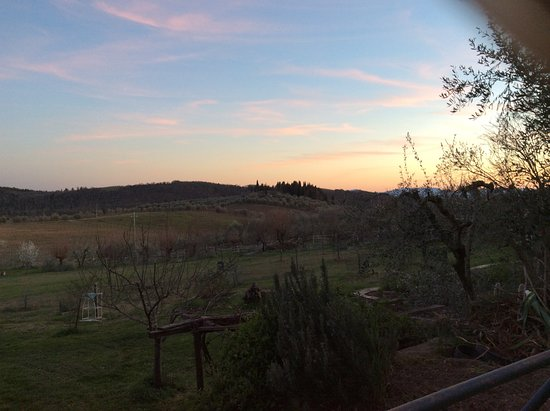 Barberino Val d'Elsa, Italy: Prumiano's environment at sunset (in March 2017)