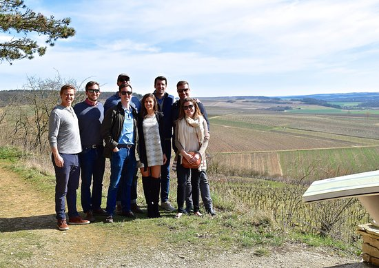 Our group in Chablis