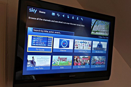 Lochearnhead, UK: Sky TV with on demand and movies