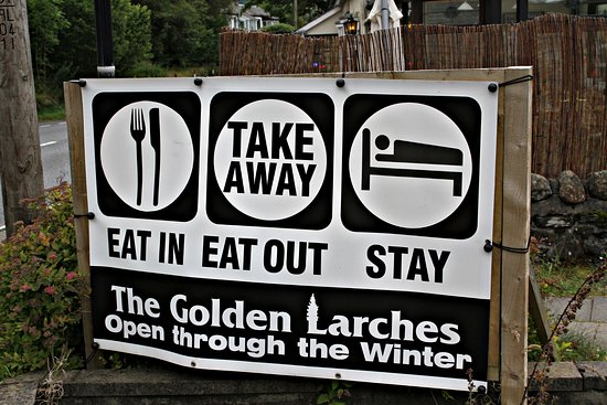 Lochearnhead, UK: Eat In, Eat Out, Stay: we are licensed as well