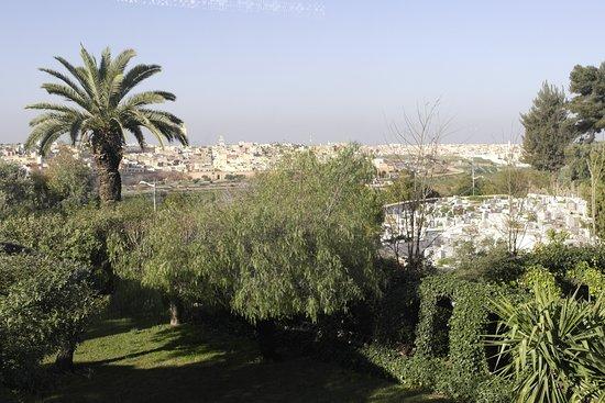 Hotel Transatlantique Meknes: utsikten fra resteuranten