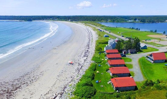 Lockeport, Kanada: Ocean Mist cottages from air