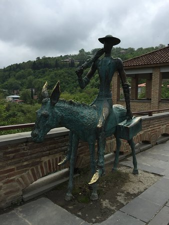 "Sculpture ""The Doctor on a Donkey"""