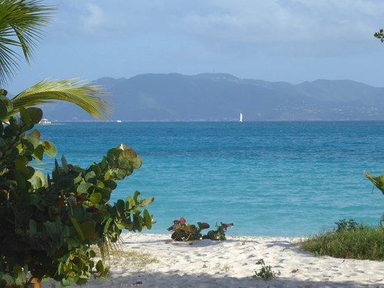 West End Village, Anguilla: View of St. Martin and Rendezvous Bay from Anguilla Great House