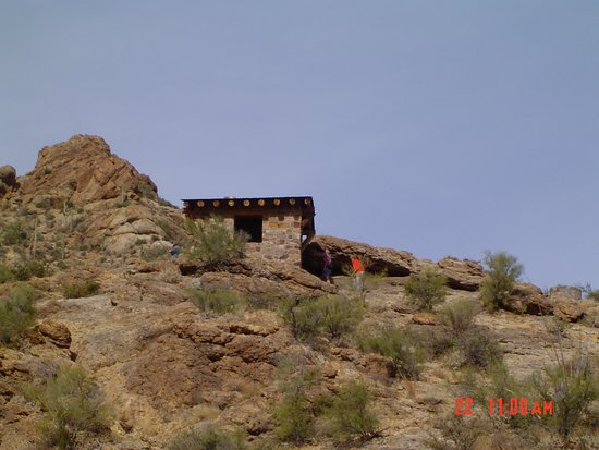 This is a little shelter up the hill a bit from Gates Pass, Tucson, AZ