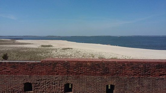 Fort Clinch State Park: view of the beach from the fort