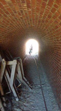 Fort Clinch State Park: tunnel exploration in Fort Clinch