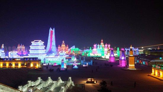 Parque de Atracciones de Hielo y Nieve de Harbin: the whole park view
