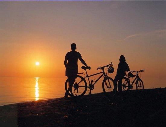 Saint-Henri-de-Taillon, Canadá: Plage, vélo et coucher de soleil au paradis!