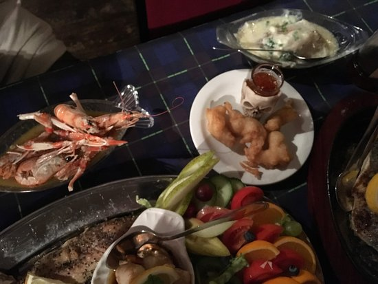 My wife's delicious birthday seafood platter courtesy of the Mariners mill street drummore