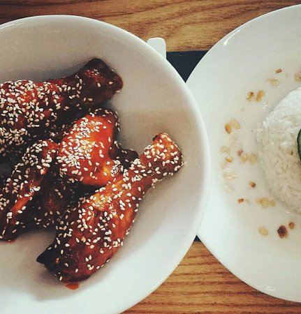 Korean Chicken With Coconut Rice Picture Of The Great Eastern Food