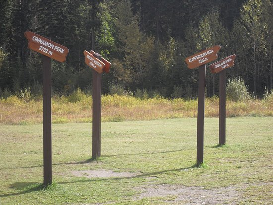 British Columbia Visitor Centre @ Mt Robson: Signposts to mountains in the area
