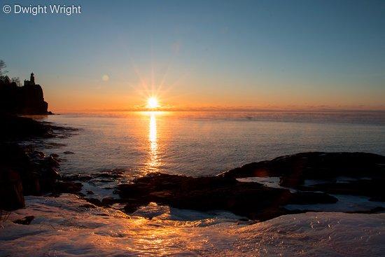 Two Harbors, MN: Sunrise at Split Rock Lighthouse