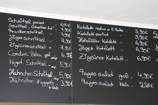 Rinteln, Tyskland: Speisenkarte