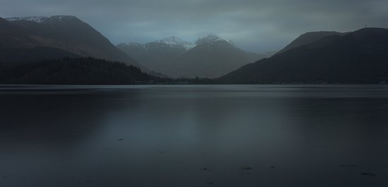 North Ballachulish, UK: 1st light at Glencoe just down from the hotel