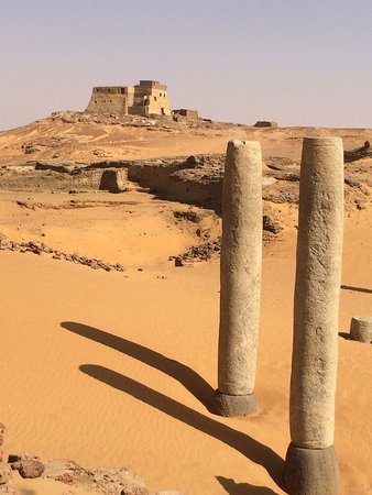 Dongola, Sudan: Fort seen from ruins of Christian church